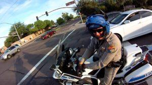 Police officer on bike in san tan valley