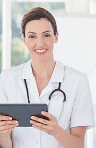 Female Doctor with an ipad