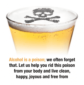 Alcohol is poison image