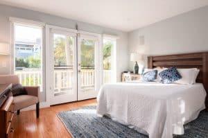 Clean Open Bedroom